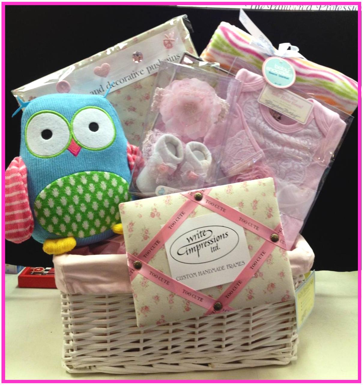 Holiday gifts baskets the pampered professional ltd hewlett ny personalized with the babys name and hand painted decorations from beautiful picture frames bookends and photo albums as well as hooded towels negle Choice Image